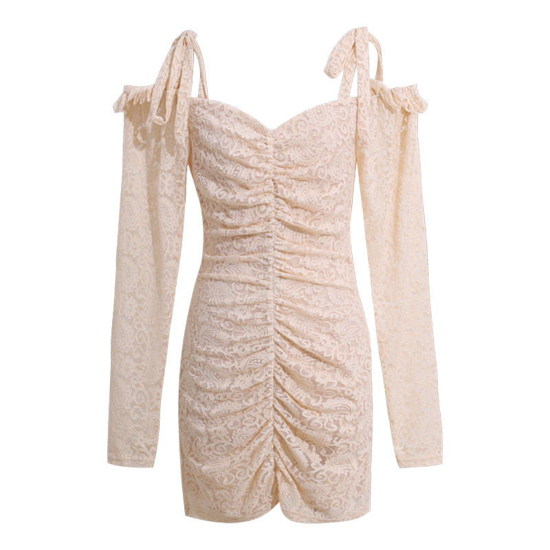 Lace Ruched Mini Dress (당일발송가능)