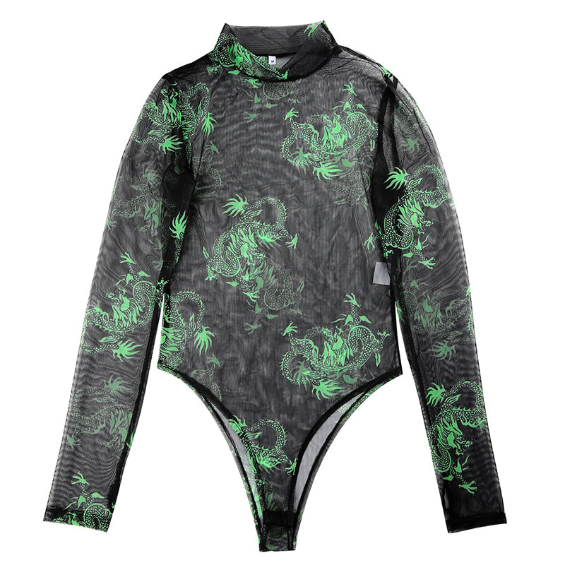 Dragon Mesh Bodysuit (same day shipping available)