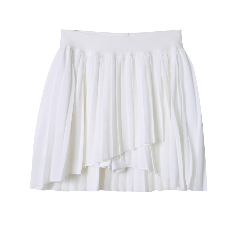 Chiffon Pleats Mini Skirt (Same day shipping available)