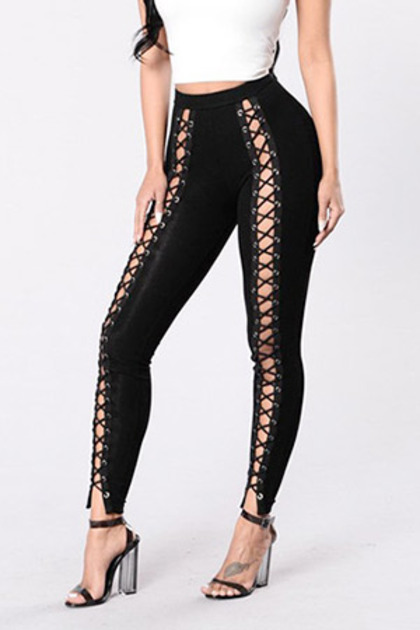 (SALE) Lace Up Leggings  (재입고 / 당일발송가능)