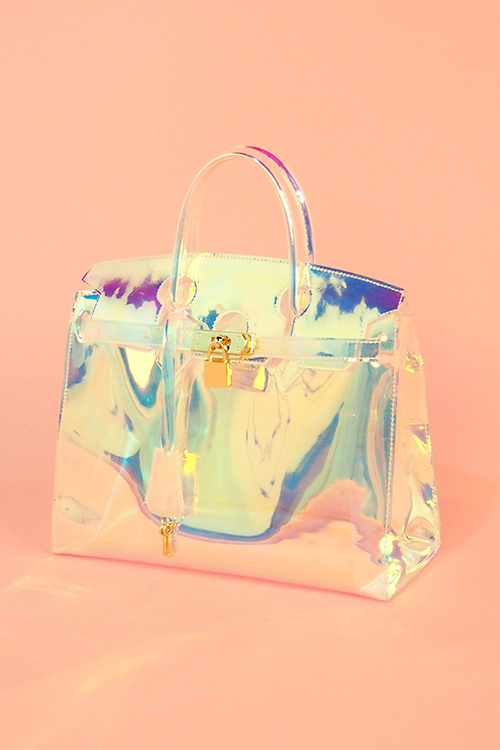 Space Metalic PVC Clear Bag