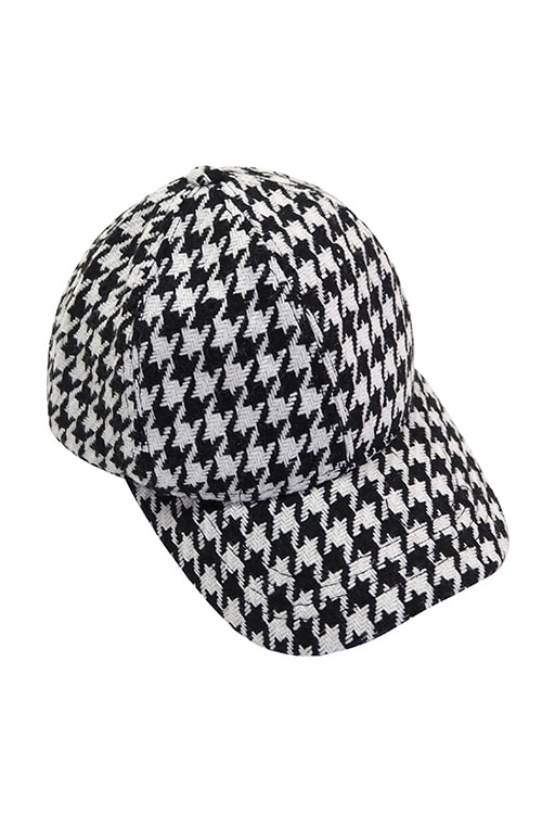Hound Tooth Check Baseball Cap