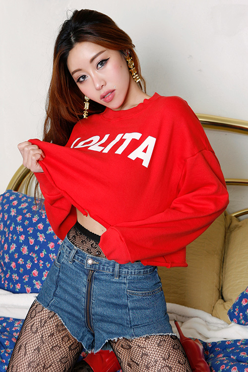 LOLITA Damage Crop Sweatshirt