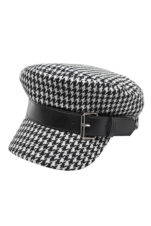 Hound Tooth Check Sailor Cap