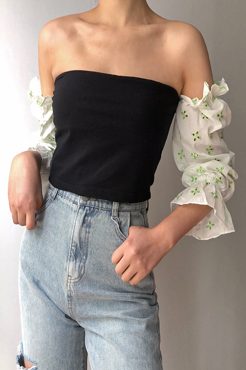 Ruffle Offshoulder Crop Top