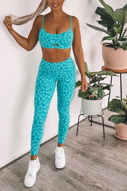 (SALE)Leopard Fitness Wear Set