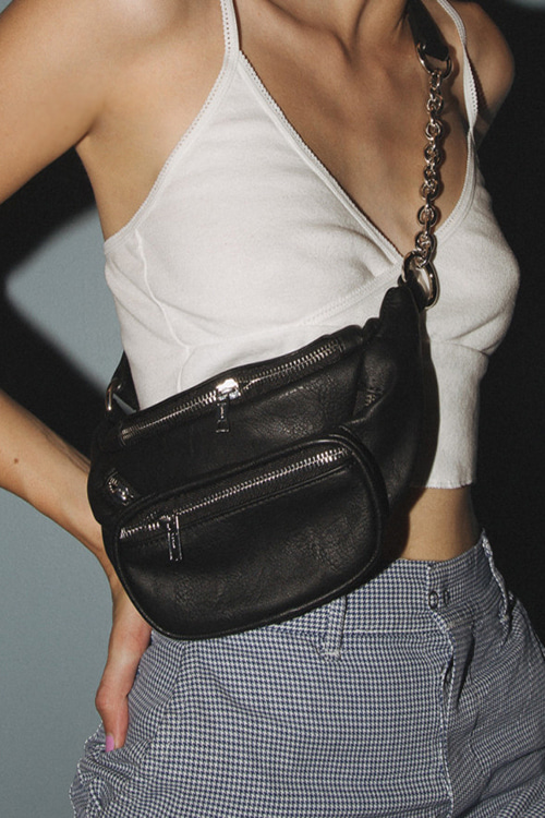 Faux Leather Fanny Pack (당일발송가능)