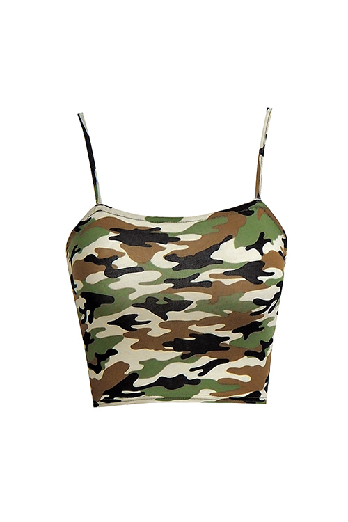 Camouflage Cami Crop Top