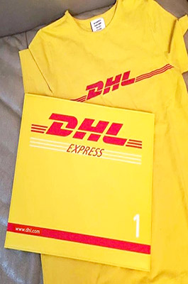 DHL Envelope Clutch  Bag