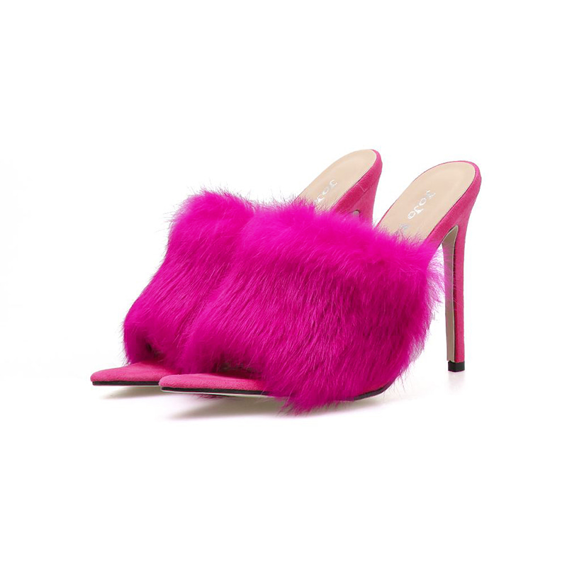 Savage Faux Fur Mules