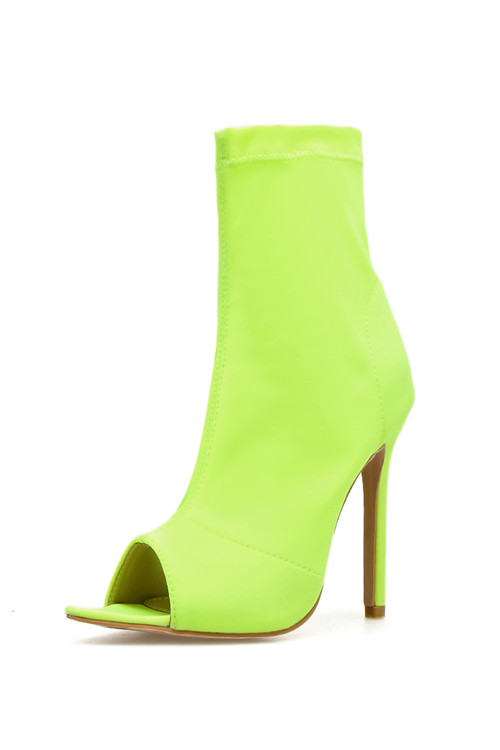 Pointed Open Toe Bootie